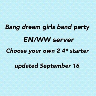 EN//WW Bandori//BanG Dream Girls Band Party Starter Account-limited HW Kokoro 2 4*
