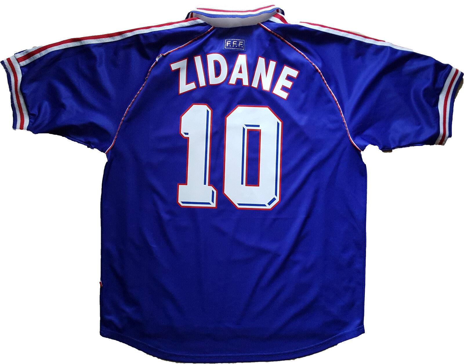 Maglia Francia Zidane 1998 World Cup 98 Vintage Adidas shirt Jersey home XS