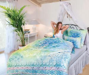The Spirit Of Om Bettwäsche Blume Des Lebens Blue Dream Ebay