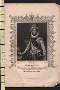 C1830 Georgiano con Stampa ~ Sir Walter