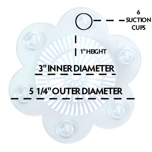 2 Per Pack Clear Hair Catcher SlipX Solutions Stop-A-Clog Drain Protector