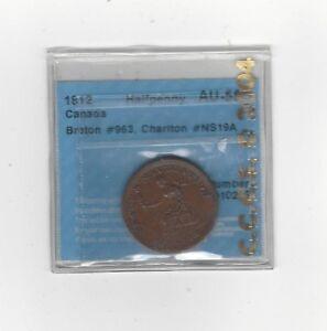 Can-Token-NS-19A-1-Breton-963-CCCS-Graded-AU-55-Half-Penny-Token