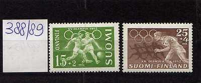 Finlandia / Finland 1952 Serie olimpiadi di Helsinki MNH