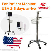 Usa Contec Mobile Trolly Cart Monitor Stand Roll Wheel Mount For Patient Monitor