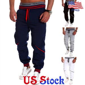 Mens-Sport-Pants-Long-Tracksuit-Gym-Fitness-Workout-Joggers-Sweatpants-Trousers