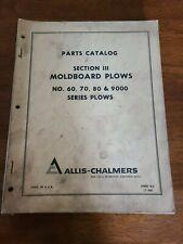 Allis Chalmers Moldboard Plows 6070809000 Dealer Parts Catalogmanual D 5