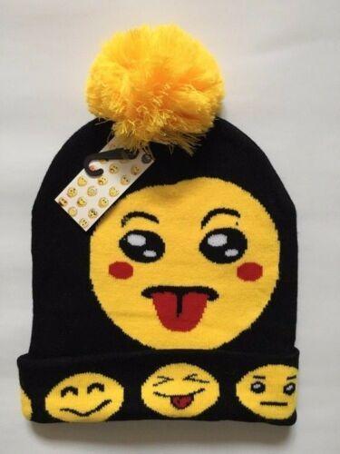 Unisex Cappello invernale Emoji Bobble hat cappello caldo SMILEY Emoji Cappello Invernale da Sci per Adulti