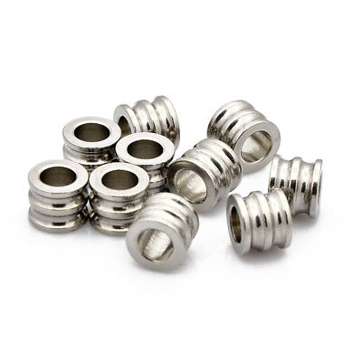 50x 304 Stainless Steel Tube Beads Craft Stainless Steel Color 30x3mm Hole 2.7mm