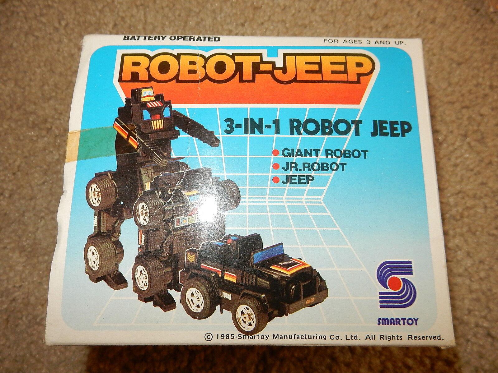 Vintage 1985 Transformer robot jeep vintage smart toy 1985