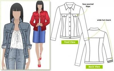 MLJW024S-M Style Arc Ladies Sewing Pattern Ziggy Jacket