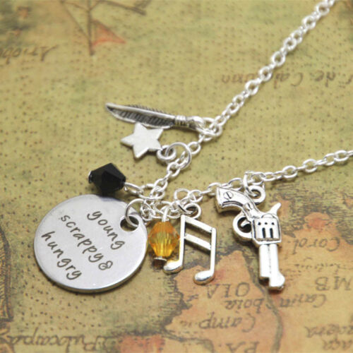 Young Scrappy and Hungry Alexander the Musical Inspired Lyrics Charm Necklace