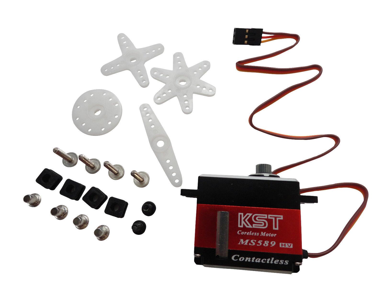 KST MS589 Mini Metal Gear Magnetic Sensor Digital Servo - 500 Size