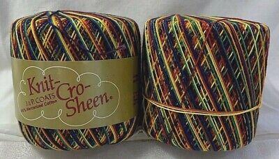 J P Coats Knit-Cro-Sheen CROCHET COTTON 100/% Mercerized Cotton Thread Size 10