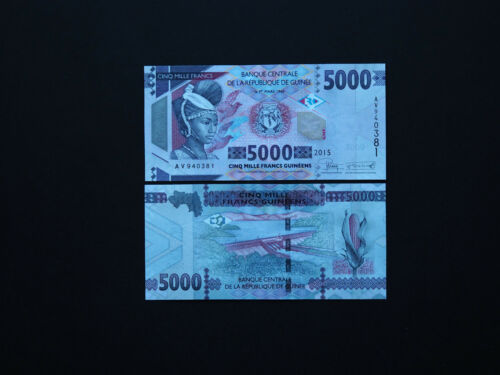 GUINEA BANKNOTES  5000  FRANC GUINEENS 2015   p48   GREAT NOTE    MINT UNC