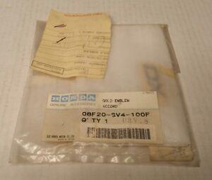 Rare-1994-97-Honda-Accord-Dealer-Accessories-Gold-DX-Emblem-08F20-SV4-100F-NOS