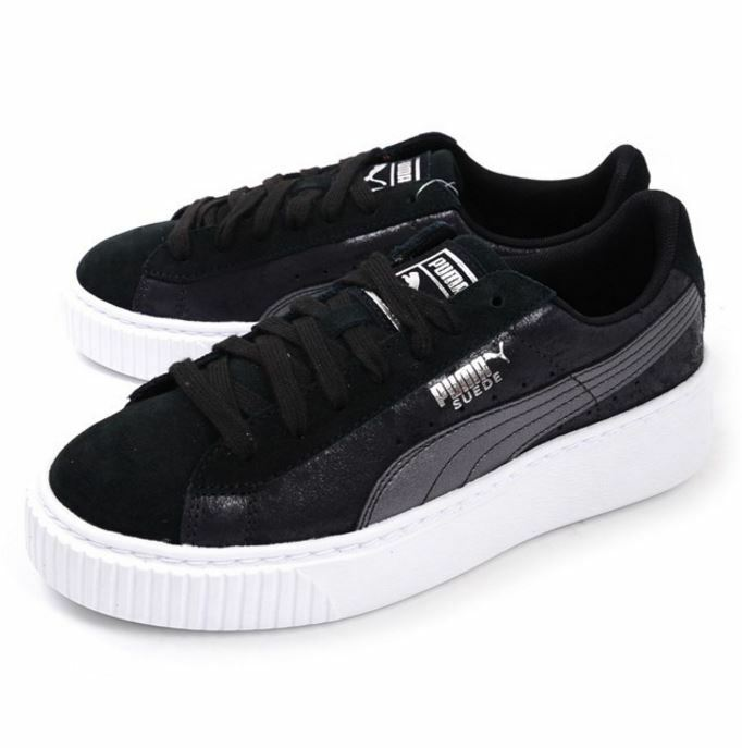 Puma Sz6-9 Women's Safari Suede Platform Black Shoes 364594 03 Sz6-9 Puma  Fast Shipping L 06e1c3