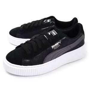 Details about Puma Suede Platform Safari Women's Fashion/Casual Sneakers  Black 364594 03 L