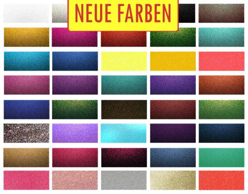 Europa Ware SCHNELLER VERSAND! Flexfolie Siser GLITTER 20x30cm 40 Farben