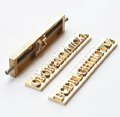 Custom 26 Alphabet Letter Brass leather stamp with T-slot holder, Heat Embosser