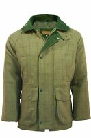 Mens Branded Light Derby Tweed Shooting Jacket Coat Sizes: S - 2xl
