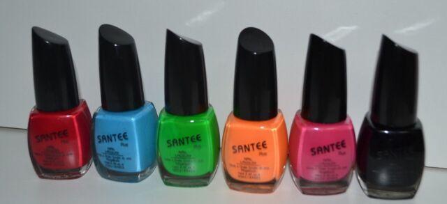 Santee Nail Lacquer Polish Metallics Shimmer Glitter Set of 6 Green ...