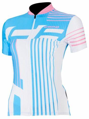taille moyenne Femme Capo SC Donna Manches Courtes Maillot De Cyclisme-Bleu//rose