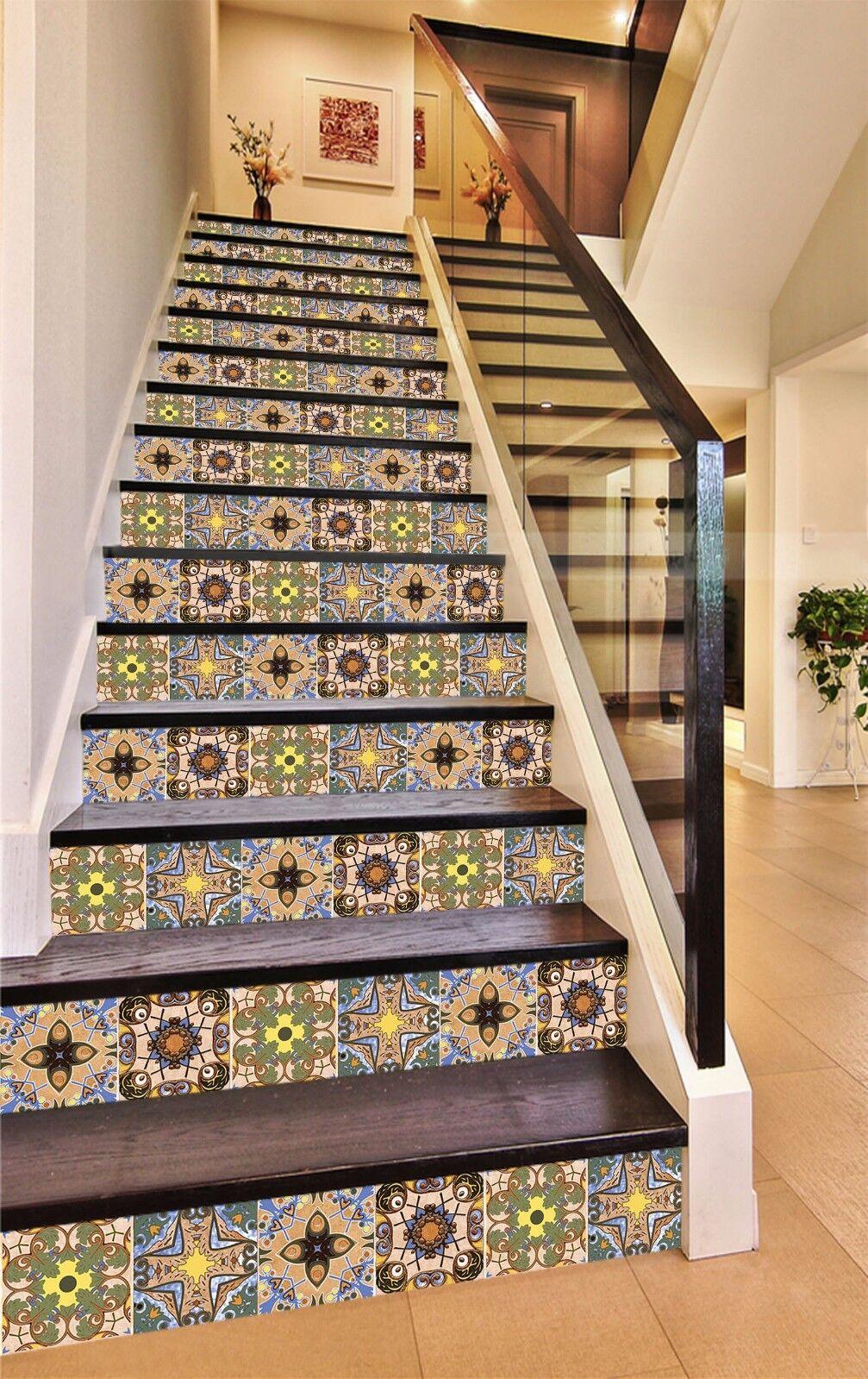 3D Blaume 436 Stair Risers Dekoration Fototapete Vinyl Aufkleber Tapete DE Lemon