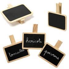 Lot de 3 mini ardoises pince à linge Idéal pour art de la table, jardin, cadeau