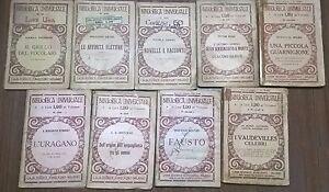 Lotto-9-Volumi-BIBLIOTECA-UNIVERSALE-Autori-vari-1930-Ca