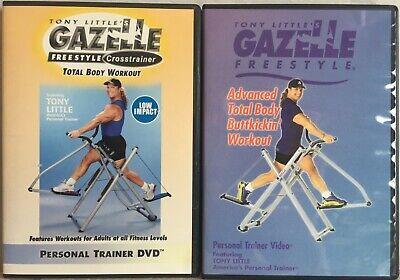 2 Tony Little Gazelle workout DVD lot Advanced Total Body Buttkickin' crosstrain | eBay