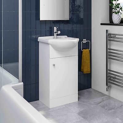 Modern Bathroom Basin Sink Vanity Toilet WC Concealed Cistern Unit Matte White