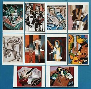 Beautiful-Set-of-10-JUAN-GRIS-Cubist-Cubism-Art-Paintings-Postcards-Prints-57O