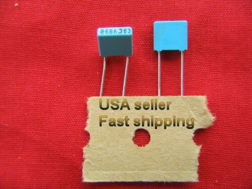 .068uf 50 pcs 63v metalized poly film capacitors FREE SHIPPNG 0.068uf, 68nf