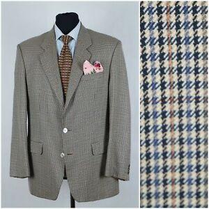 Mens-MARKS-amp-SPENCER-SIZE-UK-42R-Wool-Houndstooth-Check-Sport-Coat-Blazer-Jacket