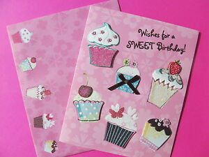 Greeting card birthday cupcakes sparkles paper magic pink image is loading greeting card birthday cupcakes sparkles paper magic pink m4hsunfo
