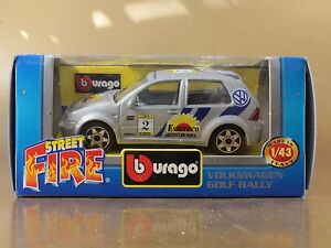 PI3-38-BBURAGO-BURAGO-1-43-STREET-FIRE-41590-VOLKSWAGEN-GOLF-RALLY-N-2-NIB