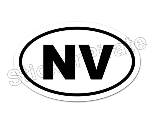 * Oval Car Magnet NV Nevada  Magnetic Bumper Sticker