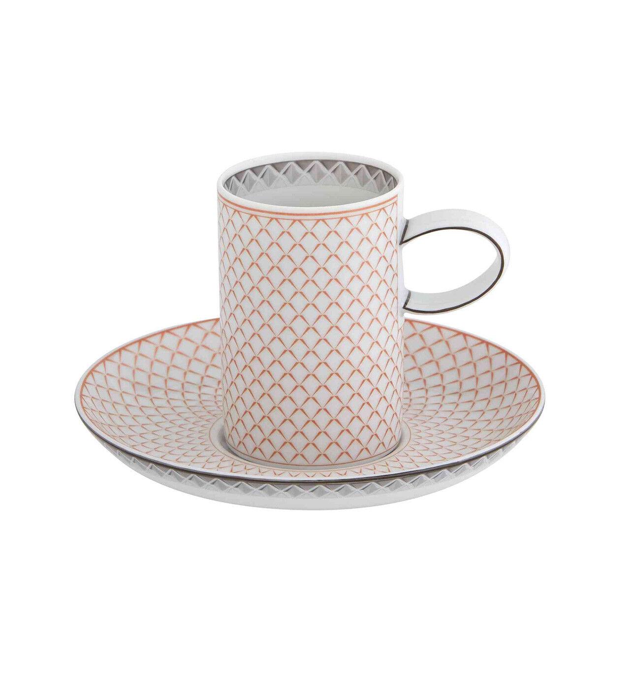 Vista Alegre Maya Tazza di Caffè e Piattino - Set di 8