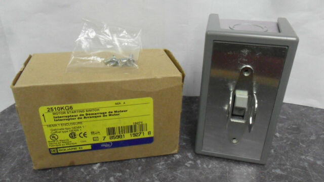New Square D 2510KG6  30 AMP 600 V Enclosed Manual  Motor Starting Switch NIB