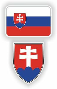 SLOVAKIA-flag-coat-of-arms-2-stickers-decals-vlajka