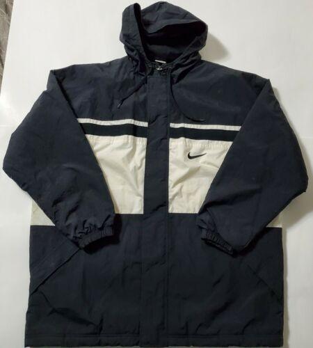 Vintage 1990s Nike Jacket Coat Hooded Hoodie Black