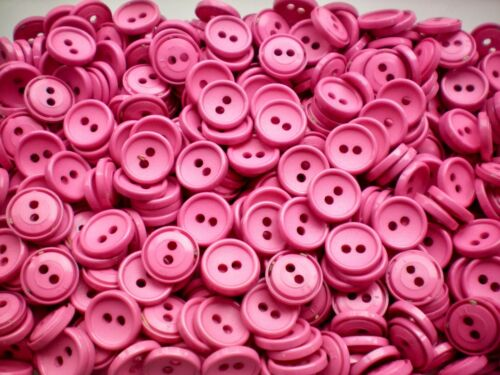 Small 14mm 22L Pink 2 Hole Craft Sewing Knitting Buttons Button J18
