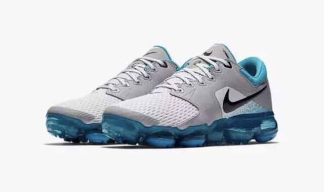 the latest 72bb9 16825 Nike Air Vapormax GS Vast Grey Blue Black Kids Women Running Shoes 917963- 011 6y