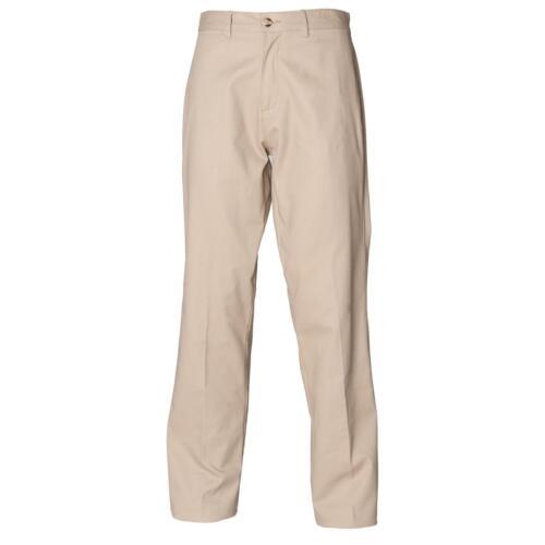 Uomo Pantaloni Chino TEFLON Tg 30 32 34 36 38 40 42 44 lunghezza 32//34 in 3 colori