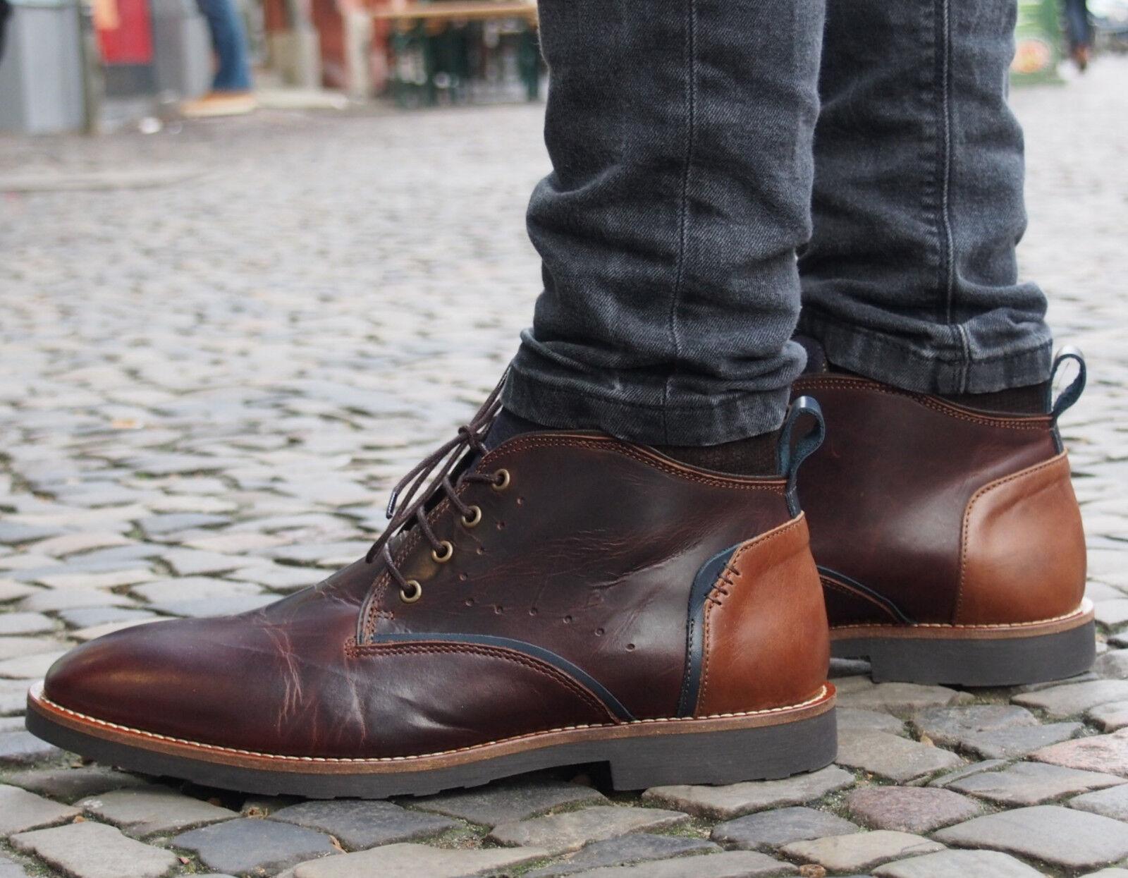 COXX BORBA Schuh MBOSTON604 braun Herrenschuhe Echtleder Schnürschuhe Business