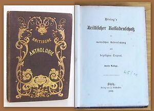 Doering-Britische-Anthologie-1858-Balladen-in-Englisch-amp-Deutsch-Lyrik-Dichtkunst
