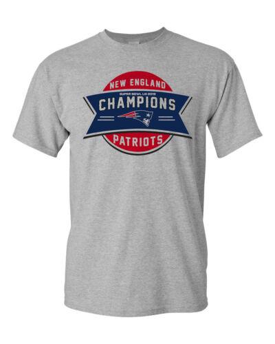 Super Bowl 53 Champions New England Patriots Custom Men/'s T-Shirt Football Tee
