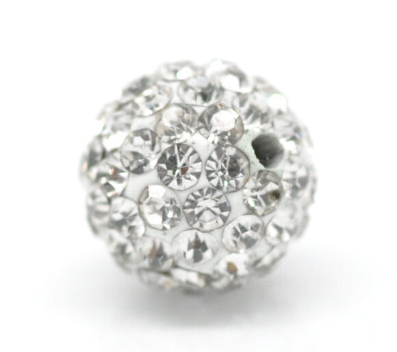 Großverkauf Klar Dicht Strass Ball Kugel Perlen Beads Strassperlen 10mm
