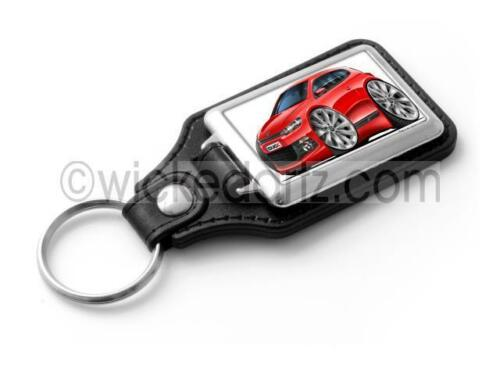 WickedKarz Cartoon Car Volkswagen VW Scirocco GT in Red Stylish Key Ring