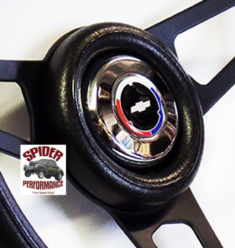 "1969-1994 Camaro steering wheel CLASSIC BOWTIE 13 3//4/"" BLACK SPOKE"
